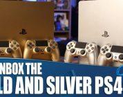 Gouden en zilveren playstation 4 unboxing video
