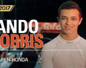 Lando Norris maakt een testrit in F1 2017