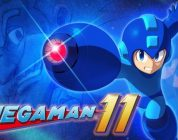 Mega Man neemt het op tegen Bounce Man in Mega Man 11
